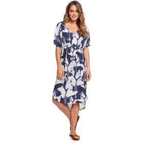 Roxy Flamingo Shades Vestido Mujer, azul/blanco